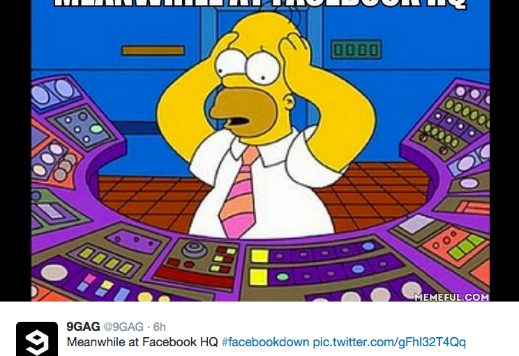 Some of the best #facebookdown tweets